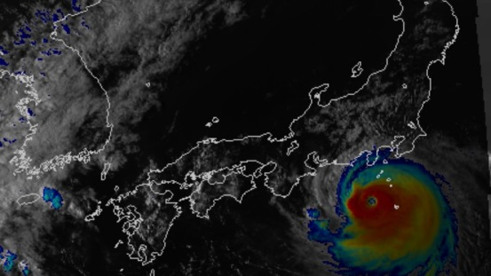 Article 63-photo 1-10 09 2019_Satellite image_Faxai approaching Eastern Japan_08 sept. afternoon